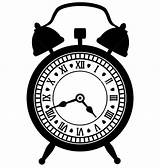Clock Coloring Alarm Pages Sheet sketch template