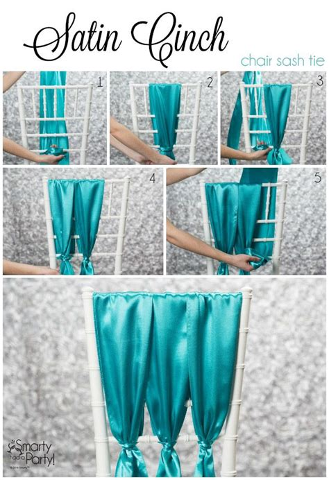 3 chiavari chair sash ties