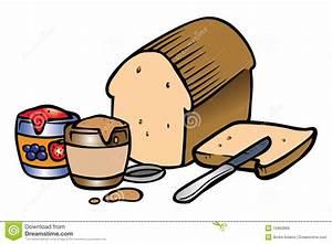 Peanut Butter Jelly Sandwich Stock Vector - Illustration ...