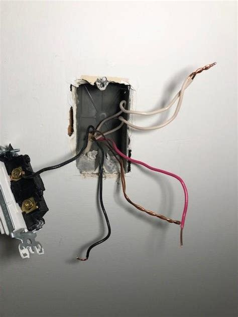 Switch With Black White Ground Red Wire