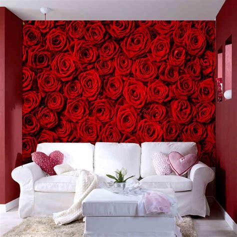 photo wallpaper modern rose wall living room tv wall