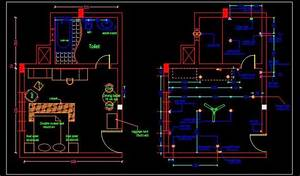 Hotel Guest Room Interior And Electrical Layout Plan