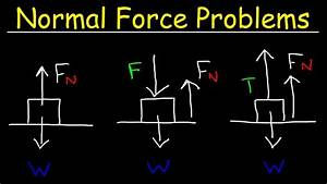 Normal Force Physics Problems  Tension  U0026 Inclined Plane