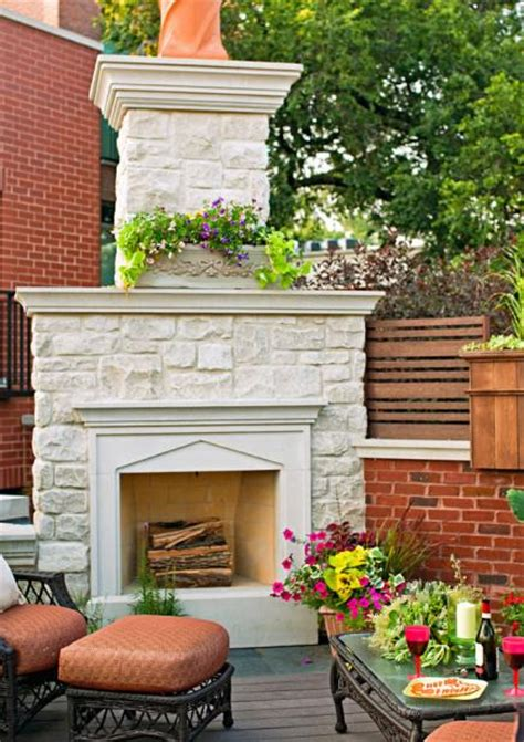 Backyard Fireplace Ideas by 20 Outdoor Fireplace Ideas Midwest Living
