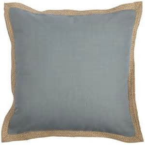 jute trim pillows smoke blue pier 1 imports