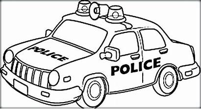 Coloring Police Pages Cars Colouring Cartoon Drawing