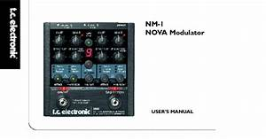 Nova Modulator Nm-1 Manuals