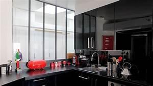 Cuisine Blanc Et Noir : noir blanc bois julie nabucet architectures ~ Voncanada.com Idées de Décoration