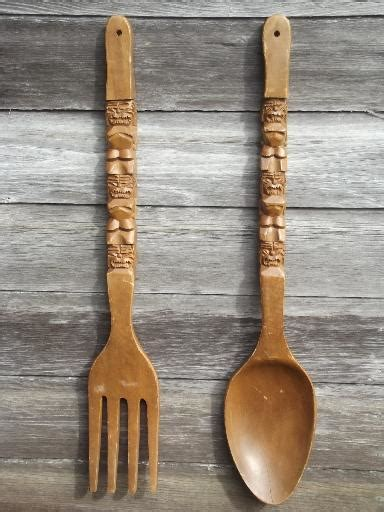 Wood Fork And Spoon Wall by Wooden Spoon And Fork Wall Decor Www Pixshark