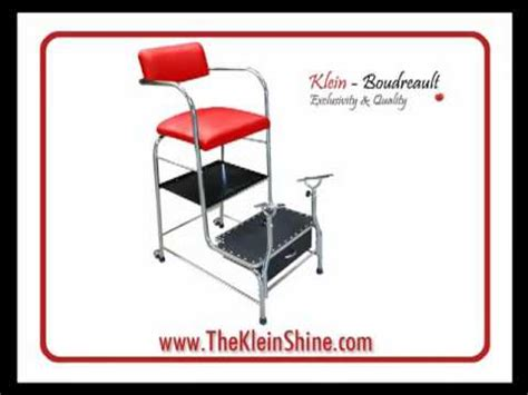 shoe shine chairs from klein boudreault