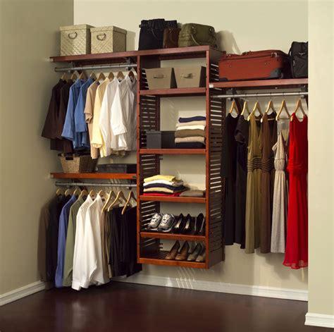 John Louis Home Red Mahogany Wood Closet Organizer System