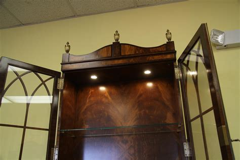 china cabinet with lights high end mahogany china cabinet or bookcase for home offfice