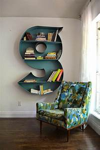 the happy homebodies diy letter bookshelf With letter bookcase