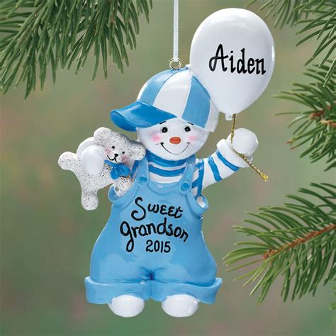 personalized sweet grandson ornament christmas miles