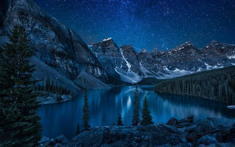 banff national park wallpaper mountains forest lake