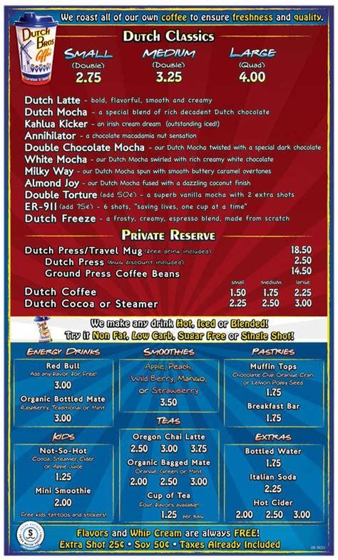 Coffee shop • menu available. Dutch Bros. Coffee Menu, Menu for Dutch Bros. Coffee, Meridian, Boise - Urbanspoon/Zomato
