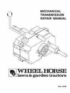 Wheelhorse Manual Transmissions Service Manual