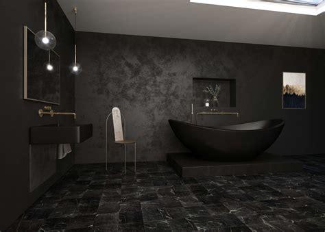 black bathroom bluedotvisual