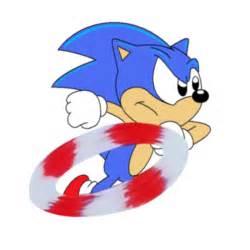 Classic Sonic Running Hedgehog