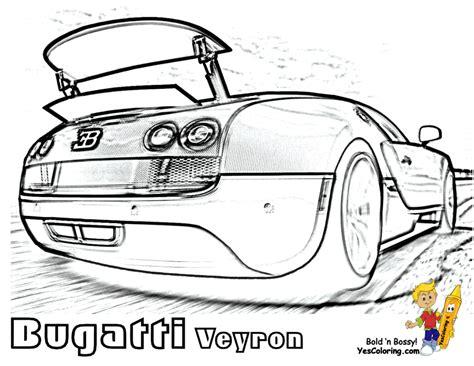 super fast cars coloring bugatti veyron spoiler