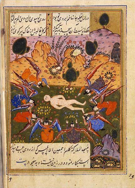 angels bow   newly created adam  iblis satan dark  refuses islamic