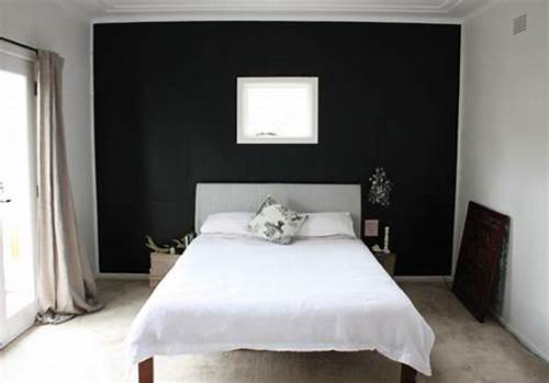 The Walls Are Painted In Black #Black #Paint #For #Bedroom #Walls #2017