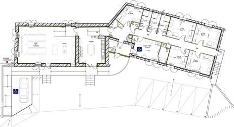 maison plain pied 5 chambres plan de maison plein pied en v