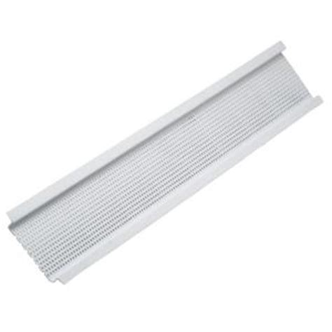 construction metals 3 8 in x 10 ft plastic soffit vent