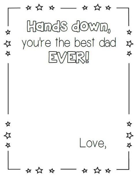 hand print fathers day craft printables pinterest