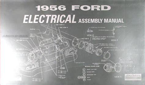1956 ford car thunderbird wiring diagram manual reprint