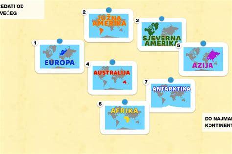 Kontinenti od najvećeg do najmanjeg (5.r.) - Školica NET