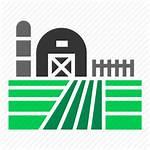 Farm Icon Field Silo Barn Land Crop