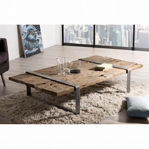 Table Basse Bois Metal : table basse bois massif cercl e m tal mathis la coop sud ouest ~ Teatrodelosmanantiales.com Idées de Décoration