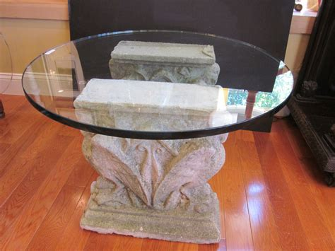 diy dining table base for glass top beautiful pedestal table base for glass top homesfeed