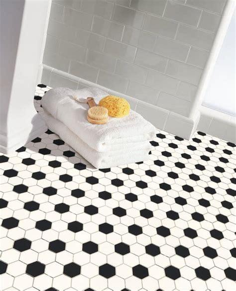 black and white hexagon tile floor www imgkid the