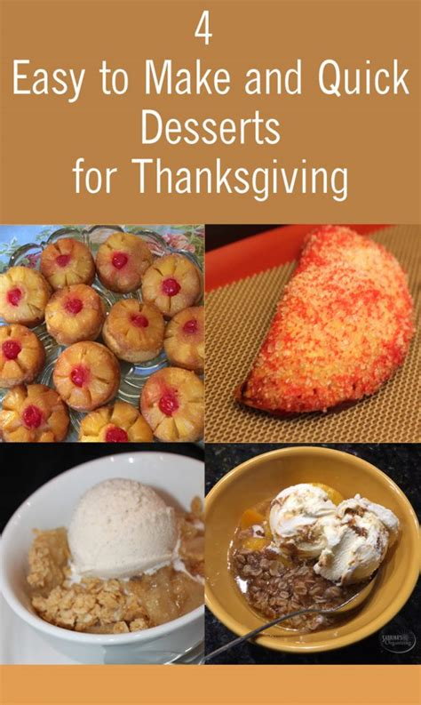 4 easy to make and desserts for thanksgiving sabrina s organizing