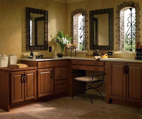 Homecrest Cabinets Bathroom Vanity by Hickory Bathroom Cabinets Homecrest Cabinetry