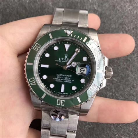 replica rolex submariner date 116610lv ar stainless steel 904l green swiss 2824 2