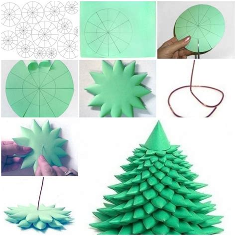 step by step how to make christmas decor how to make 3d tree step by step diy tutorial
