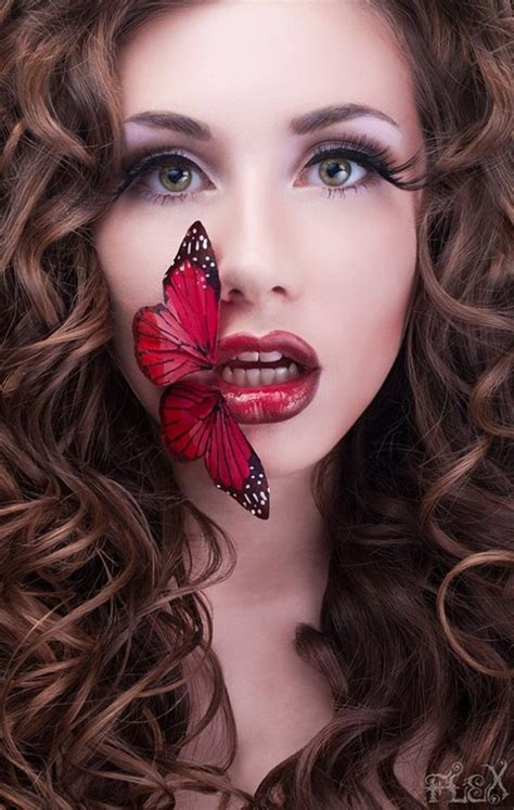 power  red lips