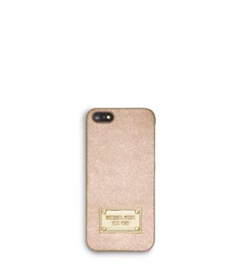 michael kors iphone 5 metallic saffiano leather phone for iphone 5