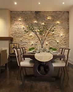 Steinwand Im Wohnzimmer Schne Design Aequivalere