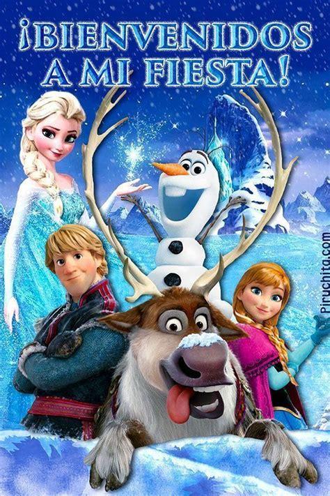 Cartel de bienvenida a mi fiesta de Frozen Fiesta de