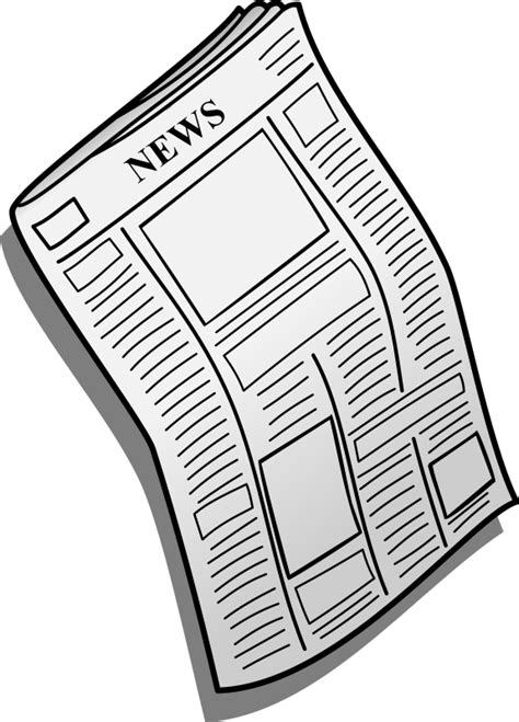 Free Resume Clipart by Newspaper Clipart Free Clipart Images Cliparting