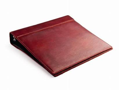 Binder Leather Rustic Ring Papers Custom Burgundy
