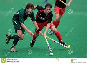Men's Field Hockey Action Editorial Stock Image - Image ...