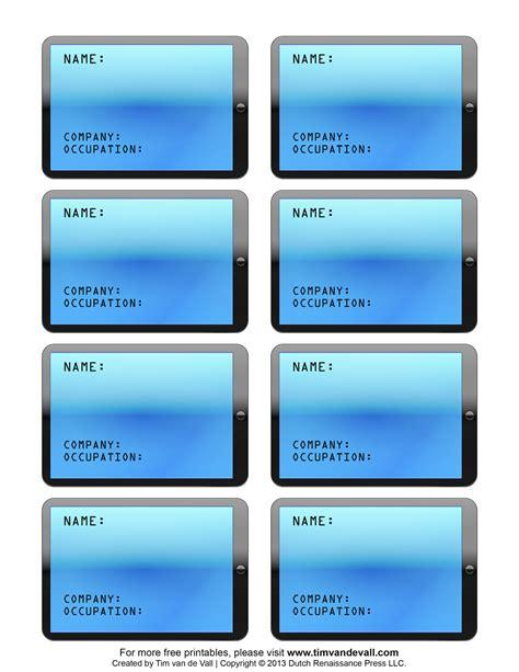 name badge template cyberuse