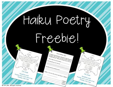 Paperrater uses artificial intelligence to improve your writing. Haiku Poem FREEBIE from my FIVE WEEK POETRY UNIT ...