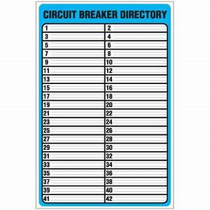 Circuit breaker directory template checklist for Circuit directory template download