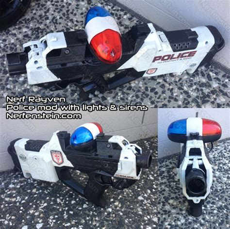 nerf car shooter nerf rayven police cruiser car gun mod sci fi weapons